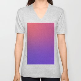 HALLOWEEN CANDY - Minimal Plain Soft Mood Color Blend Prints Unisex V-Neck