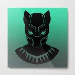 Black Panther Minimalist TEAL Variant Metal Print
