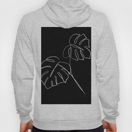Monstera minimal - black Hoody