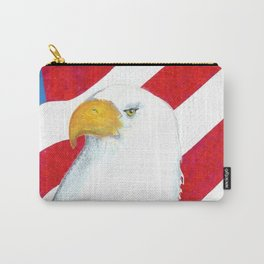 Eagle And Flag Carry-All Pouch