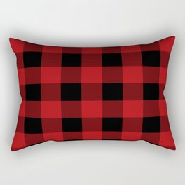 Red & Black Buffalo Plaid Rectangular Pillow