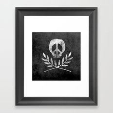 Peace is Death Framed Art Print