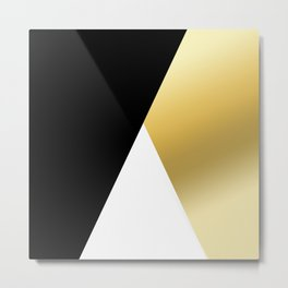 Elegant gold and black geometric design Metal Print