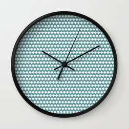 Ovals - Dusty Turquoise + White Wall Clock