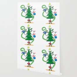 Christmas tree decoration Wallpaper
