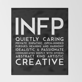 INFP (black version) Throw Blanket