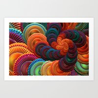 coasters Art Prints featuring The Coasters by ArtPrints