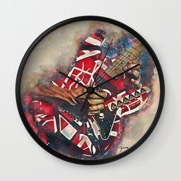 Eddie Van Halen's electric guitar Wall Clock