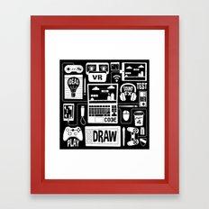 It's a Game Dev World Framed Art Print