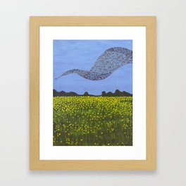 The Meadow and the Swarm Framed Art Print