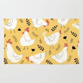 Lovely Little Hens Rug