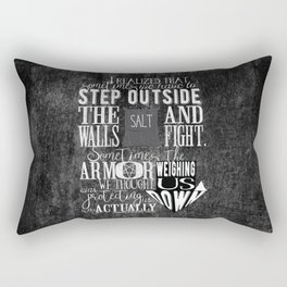 Unmarked - Step Outside The Walls Rectangular Pillow