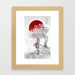 Kireji (cutting word) Framed Art Print