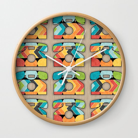 Telephone Call Wall Clock