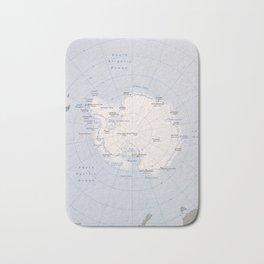 Map of the Antarctic Region (1982) Bath Mat