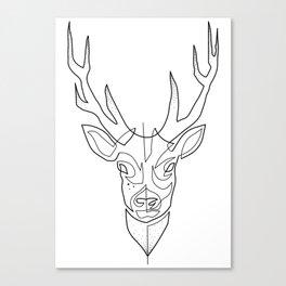 Deer Drawing in One Line Canvas Print
