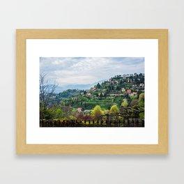 Northern Italy Landscape Framed Art Print