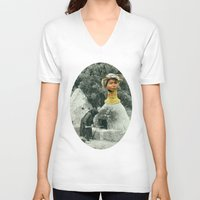 chef V-neck T-shirts featuring Head Chef by Peter Campbell