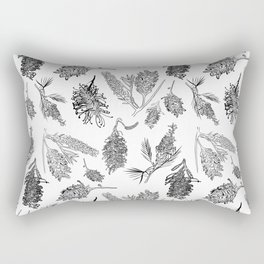 Black and White Australia Print Rectangular Pillow