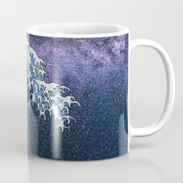 "Hokusai,"" The Great Wave off Kanagawa + Milky Way Galaxy "" Coffee Mug"