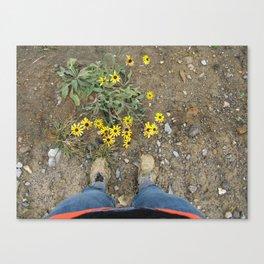 Muddy Boots Canvas Print