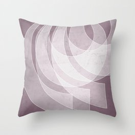 Orbiting Lace in Musk Mauve Tones Throw Pillow