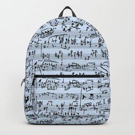 Hand Written Sheet Music // Light Blue Backpack