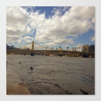 pittsburgh Canvas Prints featuring Pittsburgh by Jaime Viens