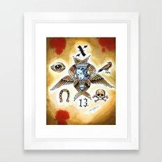 X 13 Framed Art Print