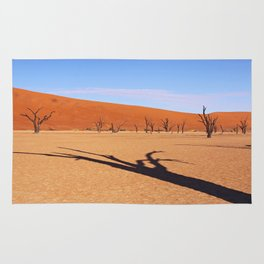 Shadow in the Dead Vlei - Namibia Rug