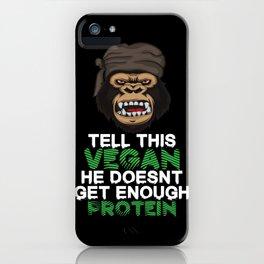 Tell This Vegan VEGANS herbivore vegetarian gorilla monkey chimpanzee diet iPhone Case