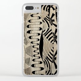 Lines Waves Clear iPhone Case