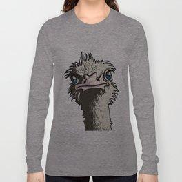 Grumpy Ostrich Long Sleeve T-shirt