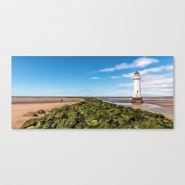 Black Rock Lighthouse Canvas Print