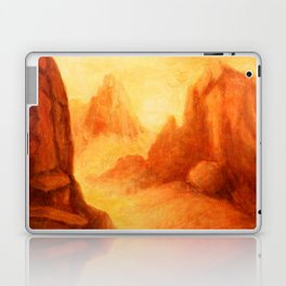 Mystic Canyon  hand painted landscapes Laptop & iPad Skin