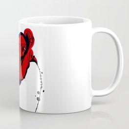 Red Flower Art Coffee Mug