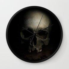 Male skull Wall Clock