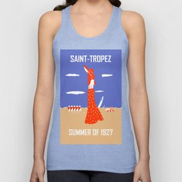 Saint Tropez Summer of 1927 Unisex Tank Top