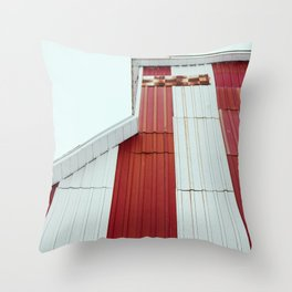 Red Pattern Throw Pillow