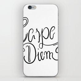 Carpe Diem - Nutze die Zeit iPhone Skin