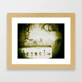 dirty knob Framed Art Print