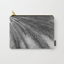 Palm Tree Leaves Upshot Side View in Noir Carry-All Pouch