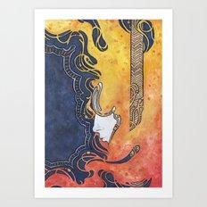 Nouveau Flood Art Print