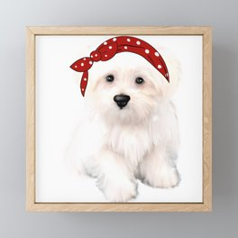 Cute bolognese dog.Perfect gift for dog lovers Framed Mini Art Print