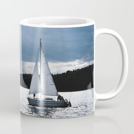 Blue moon light night sailing Coffee Mug