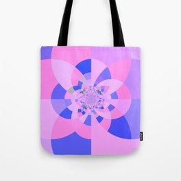 Lavender Purple Blue Kaleidoscope Tote Bag