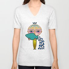 aquarius zodiac sign Unisex V-Neck