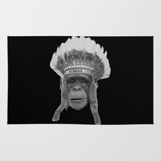 Indian Headdress Monkey Rug