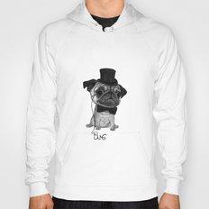 Pug (gentle pug) B&W version Hoody