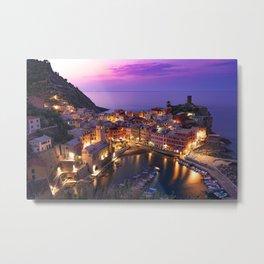 Italy Amalfi Coast Sunset Metal Print